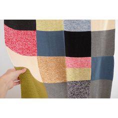 Big Throw Blanket  Handknitted multicolor blanket  by MiMitrika