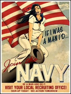 Print of old WWII US Navy Poster  Recruiting by BloominLuvly, $9.95 love these old recruiting posters
