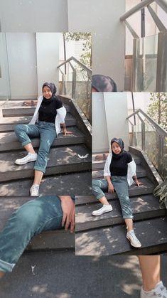 Casual Hijab Outfit, Ootd Hijab, Hijab Chic, Hijab Fashion, Photography Poses, Fashion Photo, Polaroid, Normcore, Female