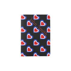France/French flag-inspired Hearts Personnalised Passport Holder - travel passport holders customize diy custom personalize traveling
