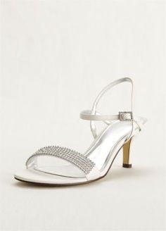 This touch of Nina double strap sandal with crystals will add sparkle and class to any special outfit. #davidsbridal #shoes #weddings
