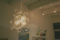mint love social club: {bubble chandelier}