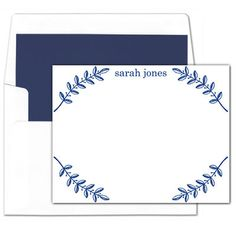 Navy Branch Flat Note Cards