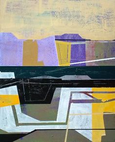 """Buy Landscape., a Acrylic on Wood by Jim Harris from Japan. It portrays: Abstract, relevant to: small, tableau, ARTE, Kunst, Konst, NEO-GEO, geometric, landscape Acrylic on wood panel 8.75"""" x 10.75"""" Artwork is signed and dated on the reverse by the artist."""