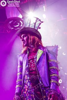The Mad Hatter. Mad T Party Band at Disney California Adventure. Disneyland.