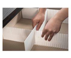 Set di 6 separatori per cassetto modulabili