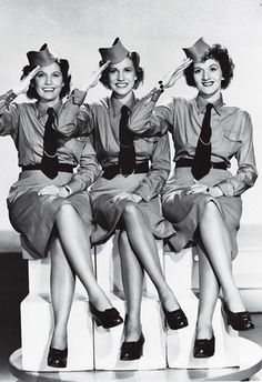 """The Andrews Sisters . . . In the 1940s the Andrews sisters """"found themselves in high demand, and became the most profitable stage attraction in the entire nation, earning $20,000 a week"""" . . . releasing eight new singles to include 'Boogie Woogie Bugle Boy', 'Rum and Coca Cola' and 'I'll be with you in Apple Blossom Time'"""" (The Andrews Sisters website:  http://www.cmgww.com/music/andrews/about/bio2.html)"""
