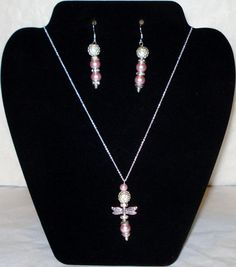 Pink Freshwater Pearl Dragonfly Sterling Silver by AAAJEWELRYSTORE, $34.99