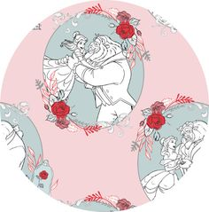 """Camelot Fabrics, Beauty and The Beast, Love Light Pink  Fabric is sold by the 1/2 Yard. For example, if you would like to purchase 1 Yard, enter 2 in the Qty. box at Checkout. Yardage is cut in one continuous piece when possible.  Examples:  1/2 yard = 1 1 yard = 2 1 1/2 yards = 3 2 yards = 4   1/2 Yard Measures ~18"""" x 44/45""""  Fiber Content: 100% Cotton  Hover over image for a larger, better view.   Care Instructions: To increase the long..."""