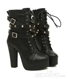 Want these - Lovely Rivet Punk Leather Belt Euramerican New Arrival Boots