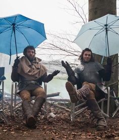 Love love love this bts pic of Jasper and Henry Tudor!!!!