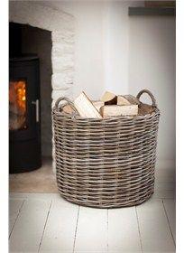 GiantLog Basket - Rattan