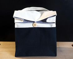 Mens lunch bag Gray lunch bag for women Zero waste reusable