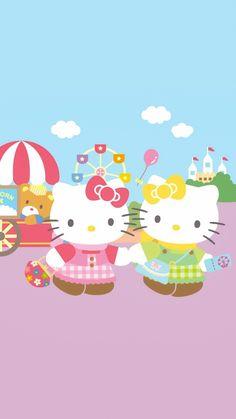 12 Days of Christmas Day 12 Hello Kitty Art, Sanrio Hello Kitty, Kitty Kitty, Hello Kitty Pictures, Hello Kitty Wallpaper, Little Twin Stars, Twin Sisters, 12 Days Of Christmas, Kawaii Cute