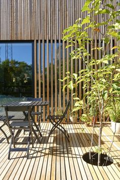 Morsøvej, Vanløse - All About Balcony Design Your Dream House, House Design, Architecture Details, Interior Architecture, Best Outdoor Lighting, Wooden Facade, Timber Cladding, Exterior Cladding, Grades