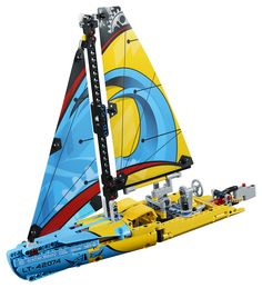 LEGO Technic - Racing Yacht and thousands more of the very best toys at Fat Brain Toys. Build an amazingly detailed racing yacht or a catamaran, both filled with mechanical fascination! Lego Technic Sets, Shop Lego, Buy Lego, Mack Trucks, New Trucks, Lego Disney, Lego Duplo, Lego Sets, Get Well Soon