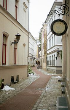 Old Town alley in Tallinn, Estonia