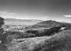 Looking east over Cahuenga Pass and the San Fernando Valley from the Santa Monica Mountains 1939