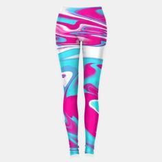 Aqua Magenta Marble Leggings, Live Heroes #oksanaariskina #fashionblogger #abstract #marble #magenta #blue #wave #liveheroes #aqua #red #purple #blue #ariskina #wave #water #flow #twist #spiral