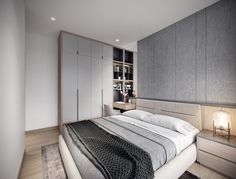 The Best 2019 Interior Design Trends - Interior Design Ideas Bed Frame Design, Bed Design, Small Room Bedroom, Bedroom Colors, Living Room Tv Unit Designs, Appartement Design, Wardrobe Furniture, Round Beds, Bed Frame And Headboard