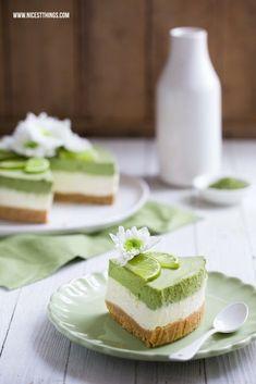 DIY Rezept: Matcha-Limetten Käsekuchen backen // DIY recipe: matcha-lime cheesecake, summer recipes via http://DaWanda.com