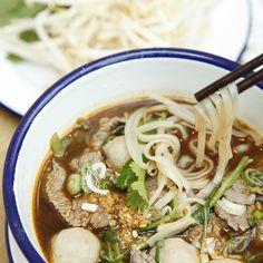 Thai #Brunch with Num-Tok Moo. Five spice noodle soup to warm your soul
