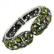 $7.99 Pre-Black Friday Sale! #blackfriday Amazon.com: Designer Inspired Green Crystal Bangle / Silver Tone / Rhinestones: Jewelry