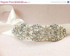 AMELIE  Bridal sash  Bridal belt  Crystal Wedding by GarterQueen, $109.99