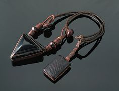 """Africa   Amulet (""""Tereout ' n 'alem"""") from the Tuareg people of Algeria   20th century   Leather"""