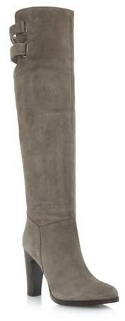 Dune BLACK prod logo ROLDAN - GREY Black Heeled Over The Knee Boot on shopstyle.co.uk