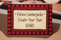 Craft: Create-Your-Own Lumberjack Beard  {via Piggy Bank Parties}