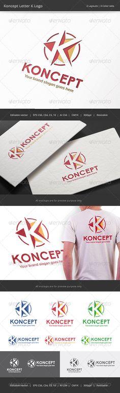 Koncept Letter K - Logo Design Template Vector #logotype Download it here: http://graphicriver.net/item/koncept-letter-k-logo/8207849?s_rank=1391?ref=nesto