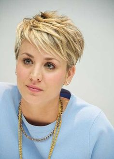 Image result for blonde cropped hair