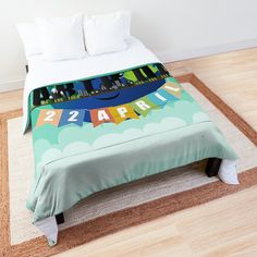 Time to snuggle into original bedspreads for boys or girls. Five sizes available: twin, twin XL, full, queen, and king. Bedspreads, Comforters, Twin Twin, College Dorm Rooms, Earth Day, Kidsroom, Square Quilt, Bed Covers, Floor Pillows