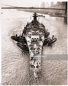 Brooklyn, NY- The recommissioned 45,000 ton USS New Jersey,one of the world's…