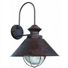 Stoere Buitenlamp. Voor aan de gevel of onder de veranda. Mooie roestbruine buitenlamp, lijkt zo uit oude fabriek te komen. Stoer. Gratis bezorgd!