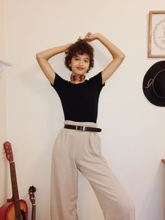 September ~ the flared pants give off a 70s vibe :o • .. #flaredpants #70s #fashion #vintage #style #aesthetic #outfit