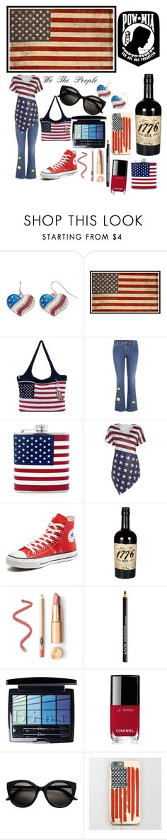"""""""Happy 4th!"""" by peacock-style ❤ liked on Polyvore featuring Mudd, Pottery Barn, The Sak, STELLA McCARTNEY, Converse, NYX, Christian Dior and Chanel"""