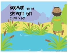 Naaman and the Servant Girl Bible Activity Freebie! This printable has cute, colorful clip art to use with Naaman and the Servant Girl in the Bible.  .
