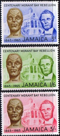 Jamaica 1964 Centenary of Morant Bay Rebellion Fine Mint SG Scott 244 6 Other West Indies and British Commonwealth Stamps HERE!