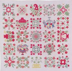Baltimore Album Quilt, 1846. Made for the Reverend William Wagner Orwig. Baltimore, Maryland.