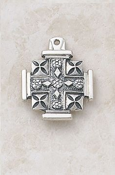 Sterling Silver Jerusalem Cross on Chain – Beattitudes Religious Gifts