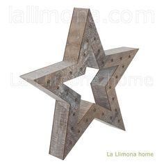 Navidad. Estrella Navidad madera 49