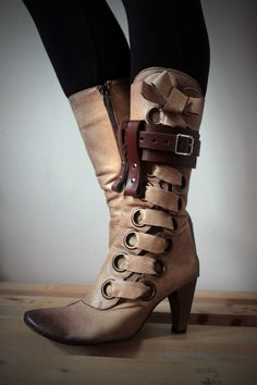 Unisex Leather Boot Garter - Brown - steampunk - burning man - festivals, Please read Description for size