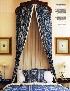 Decorator Timothy Corrigan's Château du Grand-Lucé. Loire Valley, France. Guest Room. AD October 2013