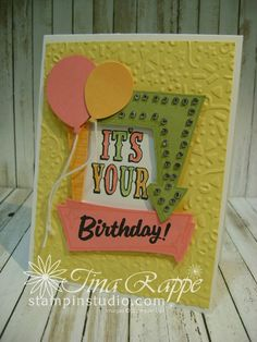 Stampin' Stdio, Stampin' Up! Marquee Messages, Birthday Video Tutorial
