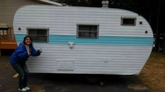 adding extra space by getting a camper, home improvement, outdoor living, Before picture Airstream Campers, Old Campers, Small Campers, Remodeled Campers, Shasta Camper, Pop Up Camper Trailer, Camper Trailers, Travel Trailers, Trailer Decor