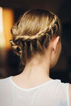 A braided updo is perfect for a big event or running around town!