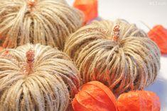 Kürbis Herbstdeko aus Paketband German, Pumpkin, Vegetables, Inspiration, Food, Simple Diy, Seasons Of The Year, Homemade, Deutsch