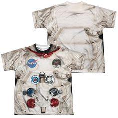 d0847285c Astronaut Spacesuit Costume Kids T-shirt Front   Back